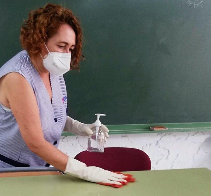 La Pública ha realizado una limpieza intensiva para el inicio del curso escolar